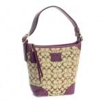 さし色の紫が大人の魅力度をUPしてくれます♪ COACH SIGNATURE ショルダーバッグ