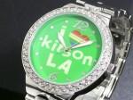 I LOVE LA●送料無料セール●キットソン 腕時計 レディース KW0006(グリーン)