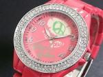 きらきらピース●送料無料セール●kitson キットソン 腕時計レディース KW0009(レッド)