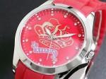 クリスタルストーン●送料無料セール●kitson キットソン 腕時計レディース KW0014(レッド)