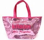 セール♪●即納・メール便可●キットソン(kitson)スパンコールミニトートバッグ ピンク×ピンク