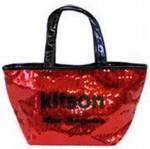 セール♪●即納・メール便可●キットソン(kitson)スパンコールミニトートバッグ レッド×ブラック