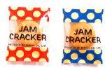 昔からの素朴な味、パリッとしたクラッカーにオレンジジャムがはさんである大人気の商品、クラッカーの塩味がオレンジジャムをひきたてます