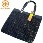 TORY BURCH QUILTED CIRE HAILEY TOTE マチ無しトート