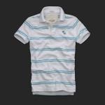 アバクロ/ポロシャツ:Haystack Mountain - White Stripe