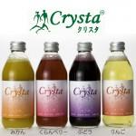 無添加 天然果汁100%微炭酸ジュース「クリスタ」4種×3本セット