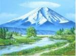美術年鑑掲載画家 丹羽勇 油絵 「富士」 F4号
