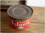 Folger's フォルジャーズ ブリキ製 コーヒー缶