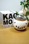 顔文字シリーズ 可愛い顔文字陶器製回転灰皿 ショボーン (´・ω・`) 白