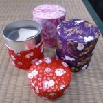 【雅で素敵な和柄】抹茶篩缶 スチール製【抹茶篩・茶漉缶】