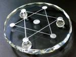 ガラス製七星盤(足付き)::天然石・パワーストーン卸問屋クリスタルキング