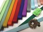 和装小物 つづら屋お洒落コレクション【帯留め用三部紐】きれい色の帯締め