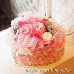 プリザーブドフラワーリングピローキット ブライトパール/ピンク