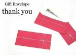Gift Envelope thank you 5枚セット