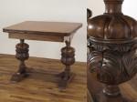 ブルボーズレッグドローリーフテーブル イギリス・オーク材・1920年頃アンティークフレックス