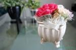 アンティーク風の花器 プリザーブドフラワー花器アレンジ【アンティーク】