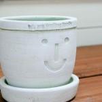 HAPPY SMILE プランターS WHITE