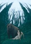 佐藤智美 版画「樹海」41.2cmx29.1cm