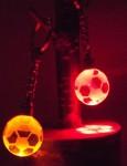 【光る】 クリスタルボール キーホルダー