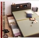 【送料無料】照明・棚付き畳収納ベッド【月下】Gekka セミダブル (40103817)【代引不可】