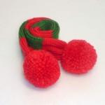 犬用手編みマフラー(クリスマス)-Sサイズ 【Scubed】