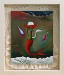 シュルレアリスムmaゆ。 油絵「花神ちゃん あふれるほどに涙と光を与えて下さい」F3号