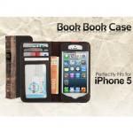 iPhone5用洋書型お財布レザーケース