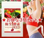 【即日発送+メール便送料無料】 極生酵素 エンザイムシステム RED 3個セット