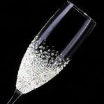 【シャンパングラス バブルシャワー】 結婚祝い・誕生日・プレゼント・デコグラス