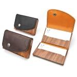 木と革の名刺入れ(card case 13)