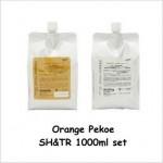 オレンジペコ ヘアシャンプー+ヘアトリートメント(各1000mlのセット)