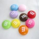 スイーツデコパーツ M&Mチョコ 9色アソート徳用90個セット