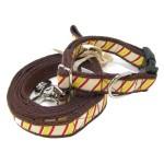 犬 首輪とリードセット【Repp Stripe Ribbon】