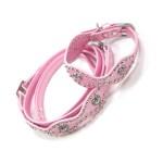 犬 首輪とリードセット【Pink Wave Heart】