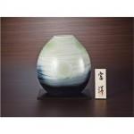 信楽焼◇8号花瓶 水面波紋☆G5-6202
