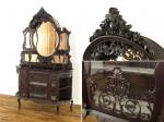 ヴィクトリアンパーラーキャビネット・イギリス1880年頃マホガニー材・イギリスアンティーク家具・アンティークフレックス