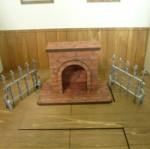 ミニチュアディスプレイ 暖炉+柵2個セット