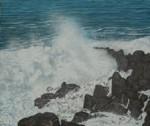井出 昭 アクリル画 「Sea Flash !」 F10号