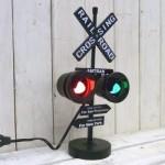 インテリアライト RAILROAD SIGN