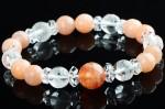 アテンキング-サンストーン・オレンジムーンストーン・水晶 天然石ブレスレット