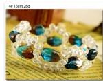 天然水晶&ベネチアングラス 天然石デザインブレス