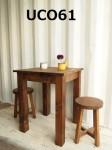 カフェテーブル 600×600(ダーク)