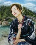 岡本伊立 油絵「柔和」 F15号