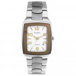 ロマンディーノ チタンカーブガラスホワイトメンズ腕時計