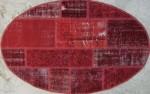 トルコパッチワークカーペット Oval  Sサイズ(100x155)