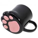 肉球マグカップ 黒猫