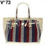 【送料無料】V73(ヴィー・セッタンタトレ) RAFIA BAG 147308 BLU-RED