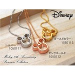 Disneyディズニー ミッキー生誕80周年記念 18金仕上げフェイスネックレス スワロフスキー使用
