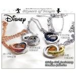Disneyディズニー ミッキー生誕80周年記念18金仕上げダブルリングネックレススワロフスキー使用