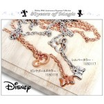 Disneyディズニー ミッキー生誕80周年記念正式ライセンス取得商品フェイス&リボンネックレススワロフスキー使用